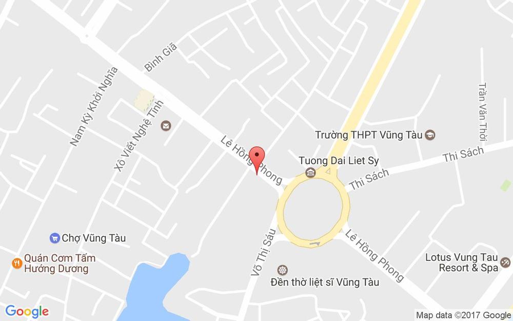 Vị trí bản đồ Ruby Villa Beach 06 ở Vũng Tàu