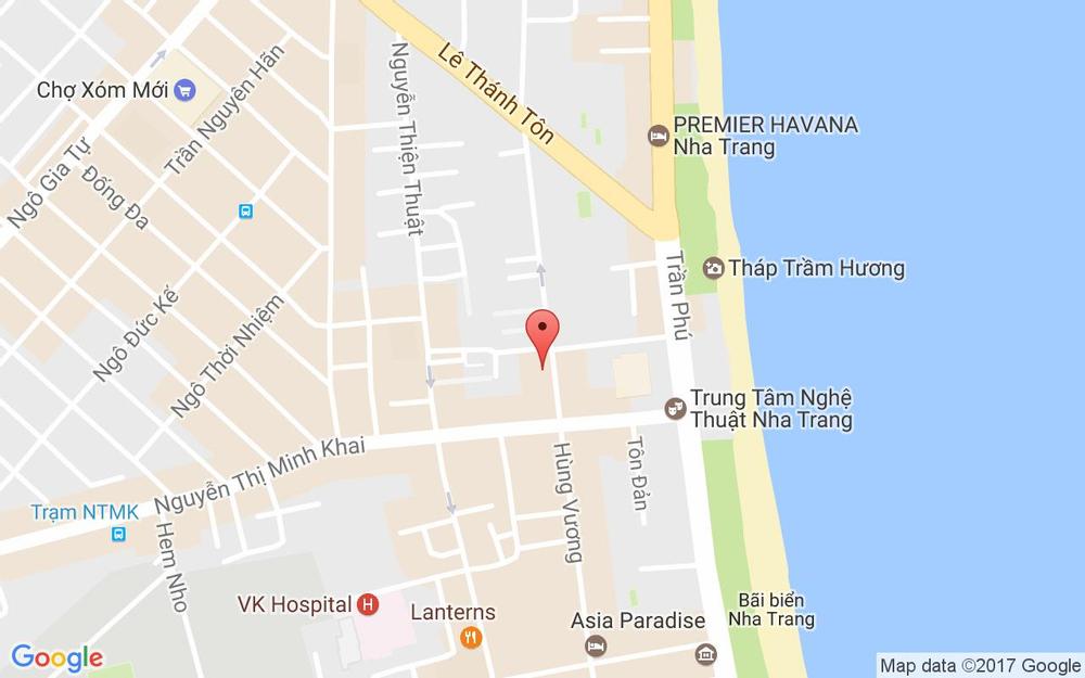 Vị trí bản đồ 30/14 Hùng Vương Tp. Nha Trang Khánh Hoà