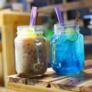 Soda Blue curacao  18k Trà sữa Flan TRà Xanh 18K