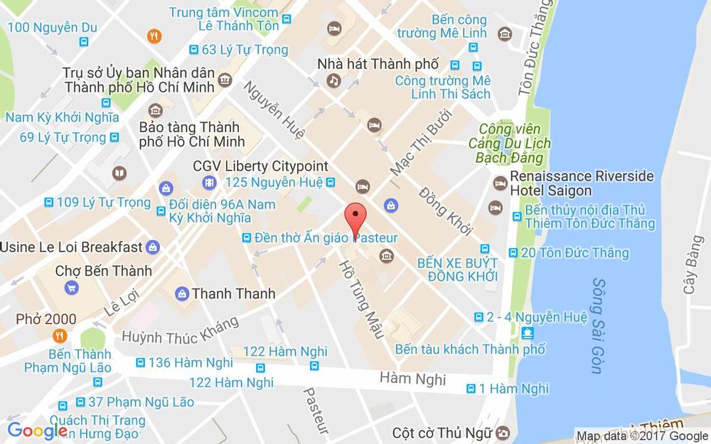 Vị trí bản đồ 17 Huỳnh Thúc Kháng, P. Bến Nghé Quận 1 TP. HCM