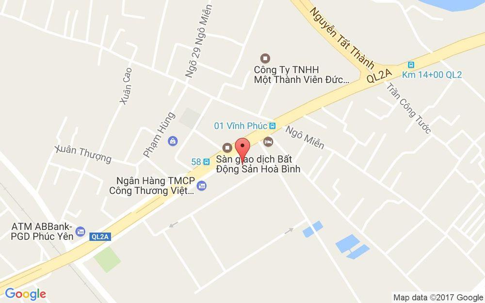 Vị trí bản đồ Khôi Coffee ở Vĩnh Phúc