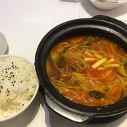 Canh bò cay+ cơm