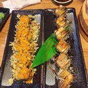 Cơm cá hồi chiên phô mai & Cơm lươn phô mai