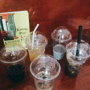 Mình thích sương sáo sữa cafe nhất, uống đã đời!!