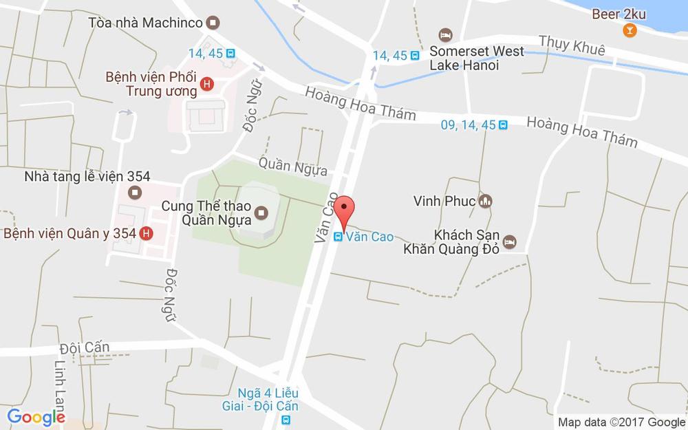 Vị trí bản đồ 69 Văn Cao Quận Ba Đình Hà Nội