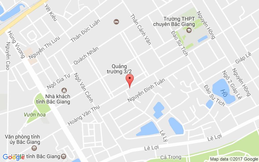 Vị trí bản đồ 89 - 90 Hoàng Văn Thụ Tp. Bắc Giang Bắc Giang