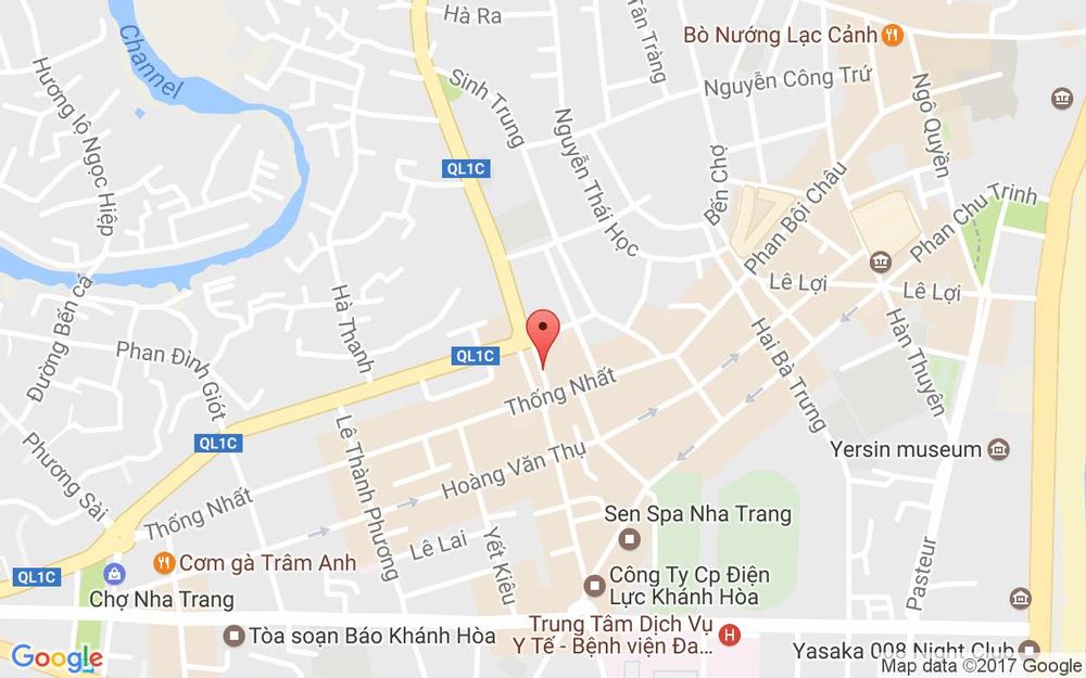 Vị trí bản đồ Tầng 3,4  Chợ Thái Vĩnh Phước, 824 Đường 2 Tháng 4 Tp. Nha Trang Khánh Hoà
