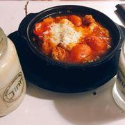 Tokbokki sốt phomai & nước gạo rang và chanh tuyết
