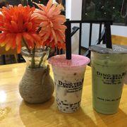 Trà sữa trân châu truyền thống + trà xanh