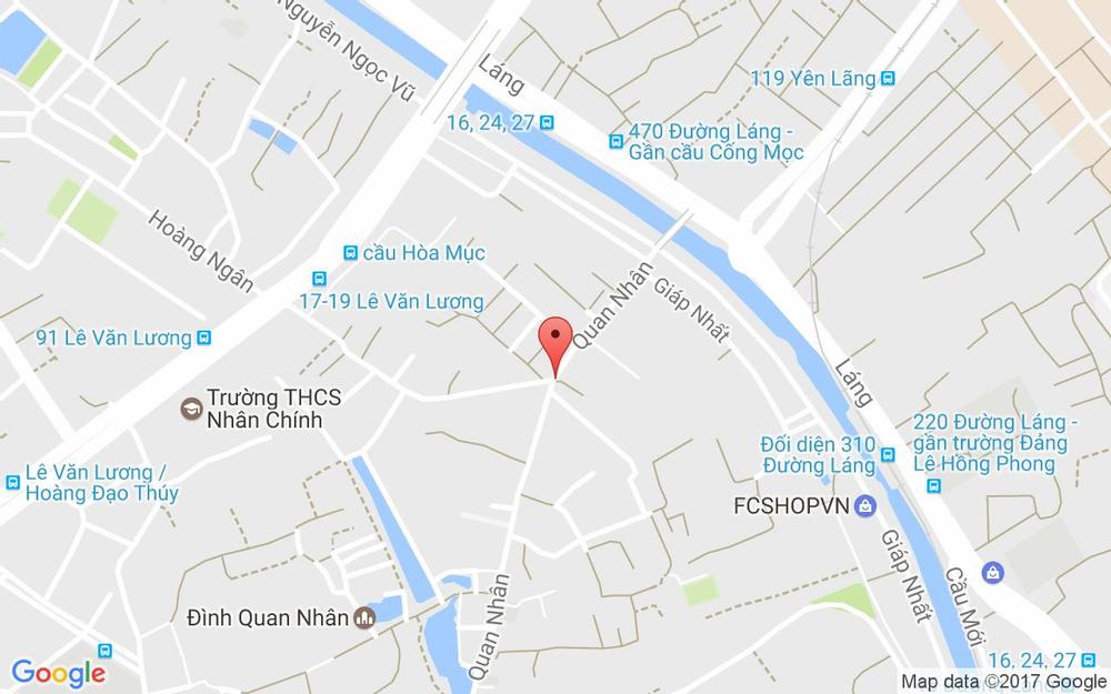 Vị trí bản đồ Đối Diện 2 Hoàng Ngân Quận Thanh Xuân Hà Nội