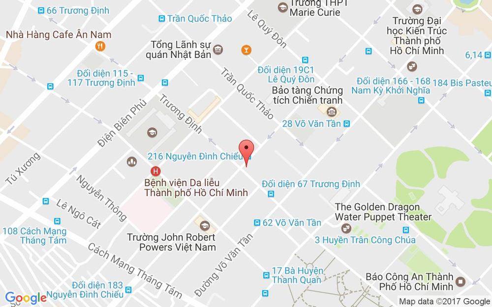 Vị trí bản đồ Tầng B1, TTTM RomeA, 117 Nguyễn Đình Chiểu, P. 6 Quận 3 TP. HCM
