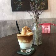Ice blended coconut coffee