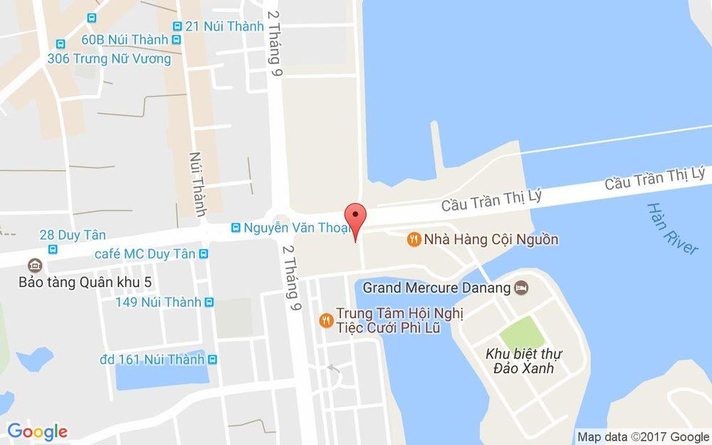 Vị trí bản đồ Lô 5 A2.5 Khu Đảo Xanh Quận Hải Châu Đà Nẵng