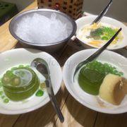 Caramen, thạch trà xanh, sữa chua mít