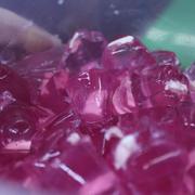 Đây là thạch phô mai nha. Màu hồng kia không phải hóa phẩm đâu, là nước thanh long để tạo màu và tạo vị ngọt đó