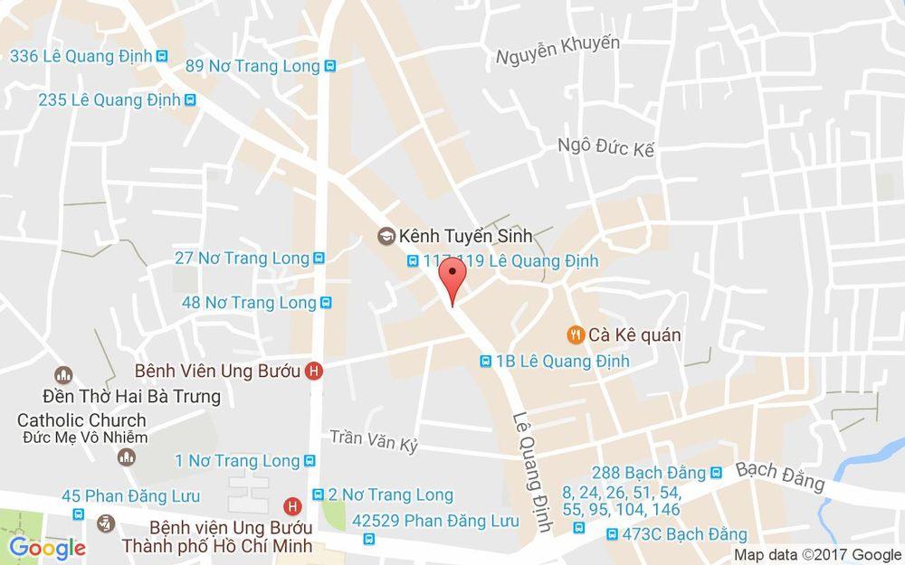 Vị trí bản đồ 97B Lê Quang Định, P. 14 Quận Bình Thạnh TP. HCM