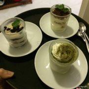 Tiramisu, oreo cheesecake, matcha mousse