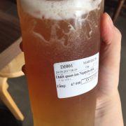 """Thiết quan âm Nguyên chất. Địa chỉ: Master tea Lò Đúc. Size L.                Ở đây uống trà sữa cũng rất ngon, có vị trà sữa lúa mạch làm mình rất kết, uống 1 lần và thích từ đó. Bởi cái mùi hơi khét đặc trưng. Và vị béo ngậy của sữa, thêm tí giòn sật sật của trân châu thuỷ tinh, làm mình """"chim ưng"""". Ngoài ra còn có trà ô long cũng rất ok."""