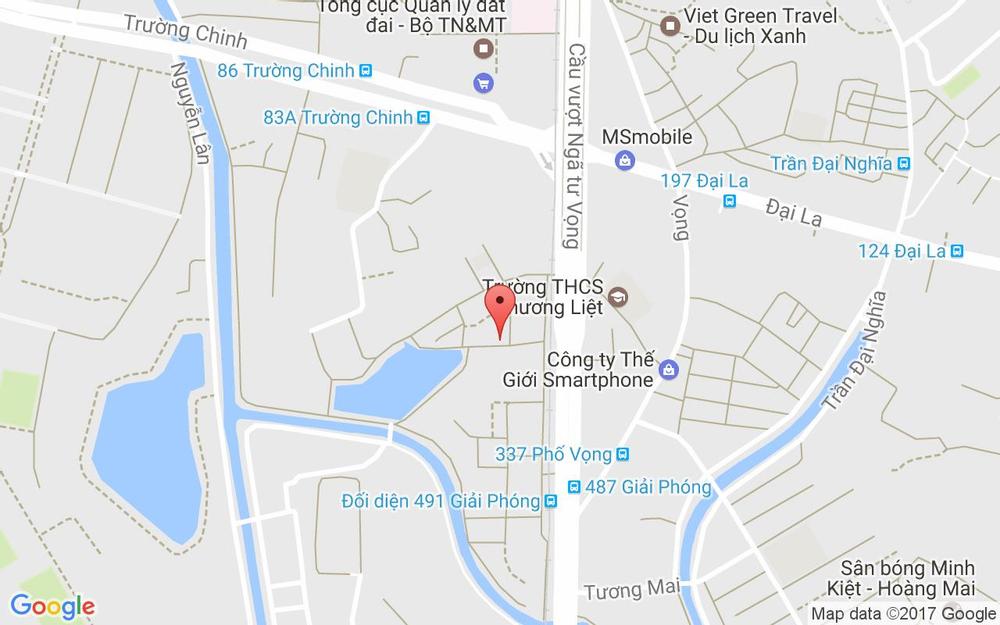 Vị trí bản đồ 28 Ngõ 178 Giải Phóng Quận Thanh Xuân Hà Nội