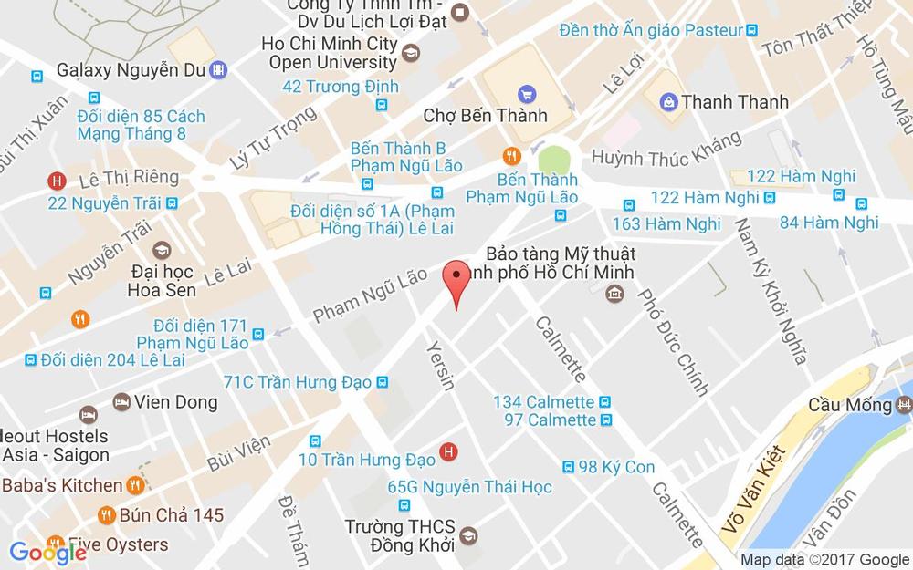 Vị trí bản đồ 45 Trần Hưng Đạo Quận 1 TP. HCM