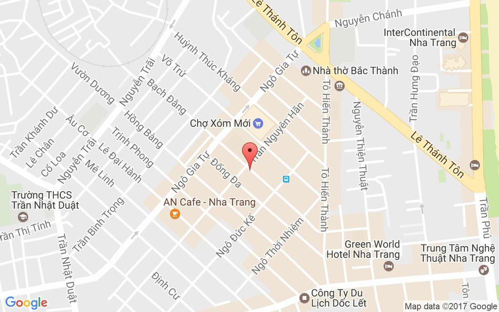 Vị trí bản đồ Bạch Đằng Tp. Nha Trang Khánh Hoà