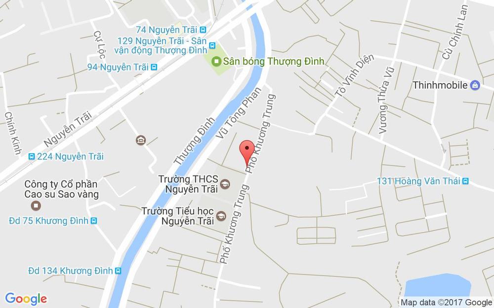 Vị trí bản đồ 112 Khương Trung Quận Thanh Xuân Hà Nội