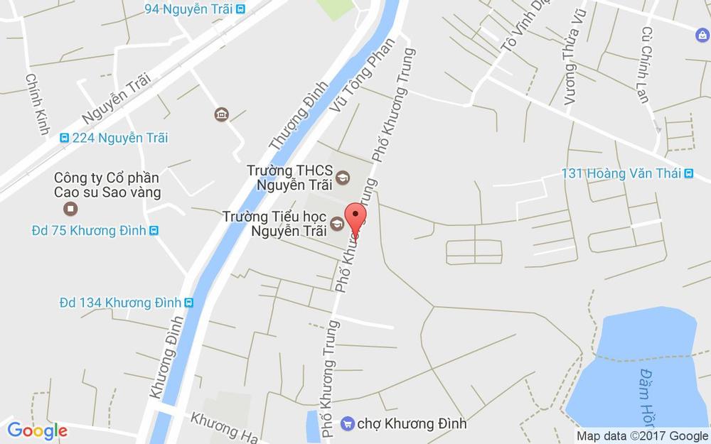 Vị trí bản đồ 102B10 Khương Trung Quận Thanh Xuân Hà Nội