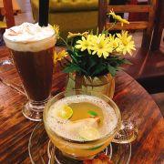 Trà sả tắc mật ong + socola sữa dừa