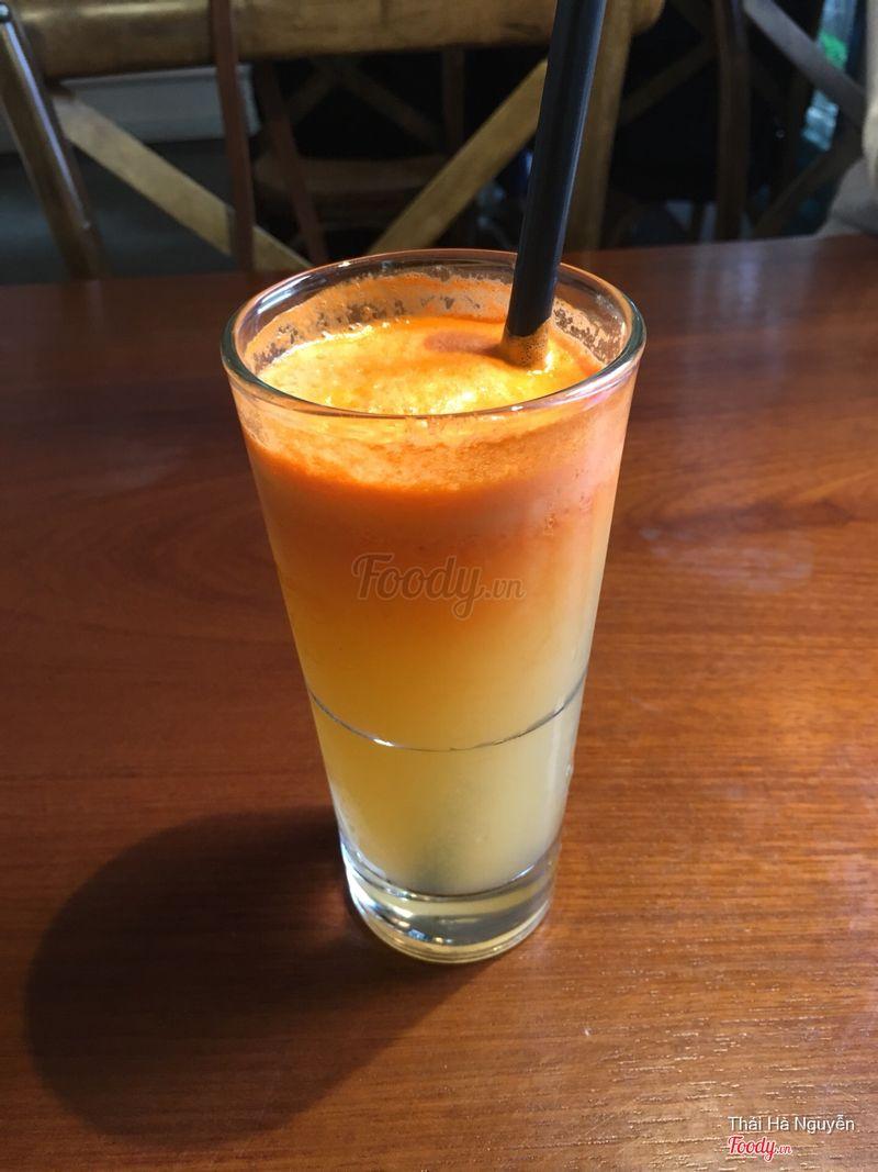 Nước ép carrot cam dứa 55k