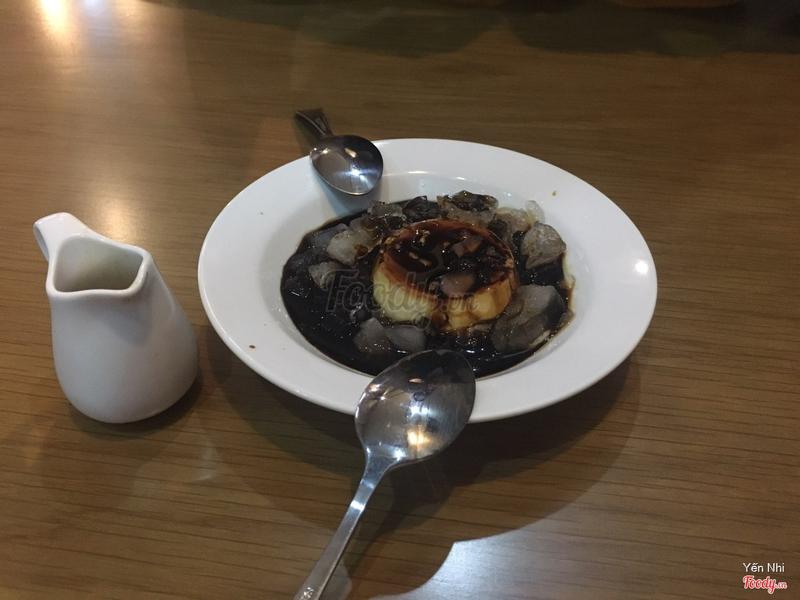 Caramel flan với cà phê