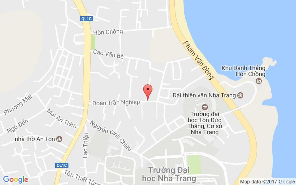 Vị trí bản đồ 34 Đoàn Trần Nghiệp Tp. Nha Trang Khánh Hoà