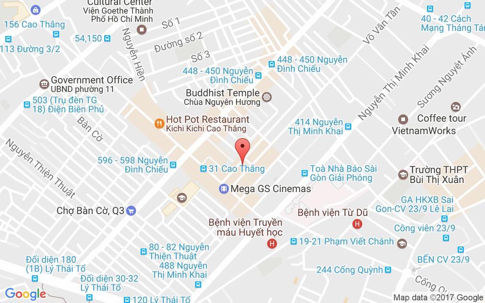 Vị trí bản đồ 246/8 Võ Văn Tần, P.5 Quận 3 TP. HCM