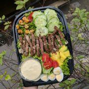 Almond Steak Salad
