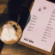 Cà phê cốt dừa + Menu của quán