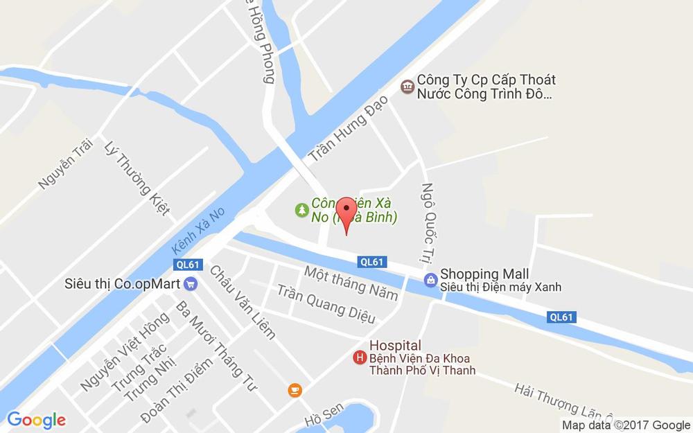 Vị trí bản đồ Lầu 1 - 06 Vincom Hậu Giang, 1 Đường 3 Tháng 2 Thành Phố Vị Thanh Hậu Giang