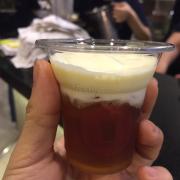 Hồng trà Teaccino dùng thử, foam rất ngon nha!