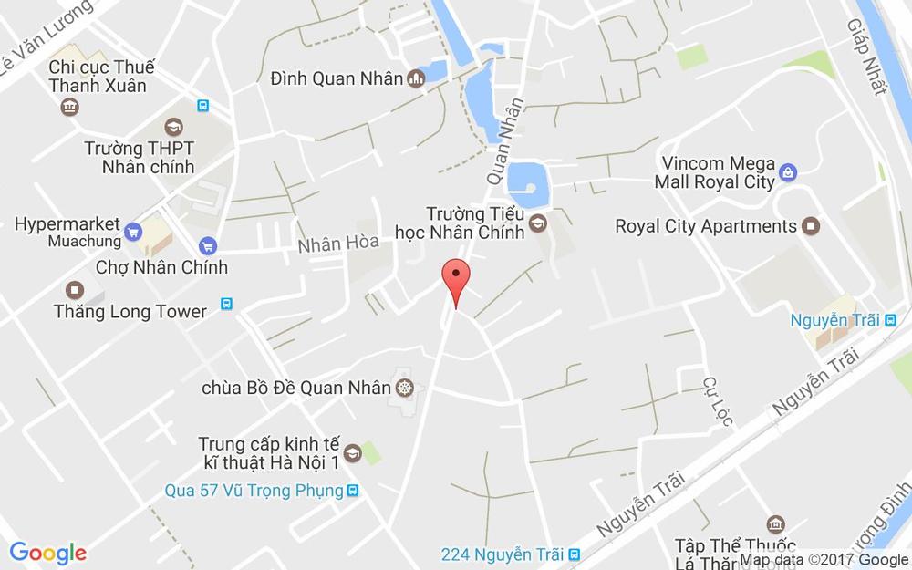 Vị trí bản đồ 210 Quan Nhân Quận Thanh Xuân Hà Nội