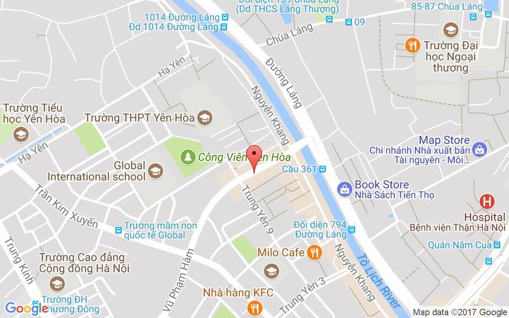 Vị trí bản đồ 142 Vũ Phạm Hàm (Đối Diện 888 Đường Láng) Quận Cầu Giấy Hà Nội
