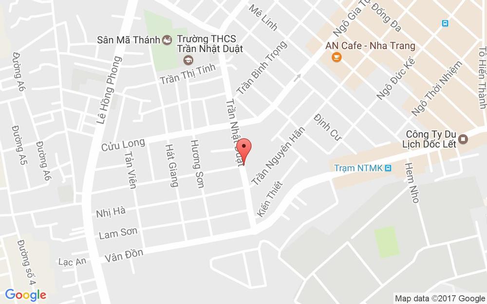 Vị trí bản đồ 117 Trần Nhật Duật Tp. Nha Trang Khánh Hoà