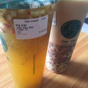 Trà sữa trân châu đậu đỏ & trà trái cây