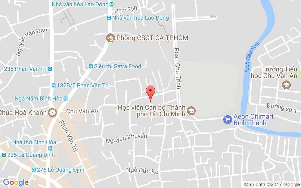 Vị trí bản đồ 55/3 Chu Văn An, P. 12 Quận Bình Thạnh TP. HCM