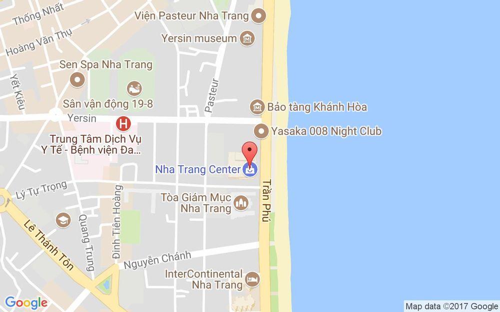 Vị trí bản đồ Nha Trang Center, 20 Trần Phú, P. Lộc Thọ Tp. Nha Trang Khánh Hoà