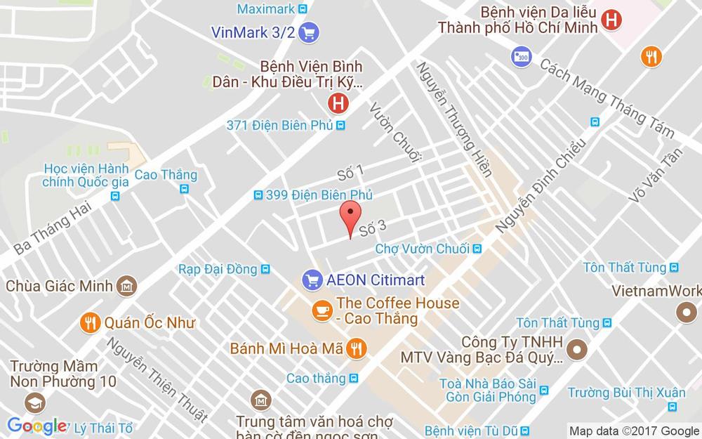 Vị trí bản đồ 95 Số 3 Cư Xá Đô Thành, P. 4 Quận 3 TP. HCM