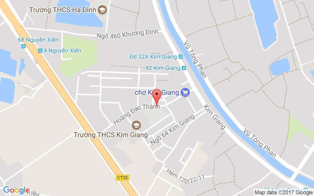 Vị trí bản đồ 52 Hoàng Đạo Thành Quận Thanh Xuân Hà Nội