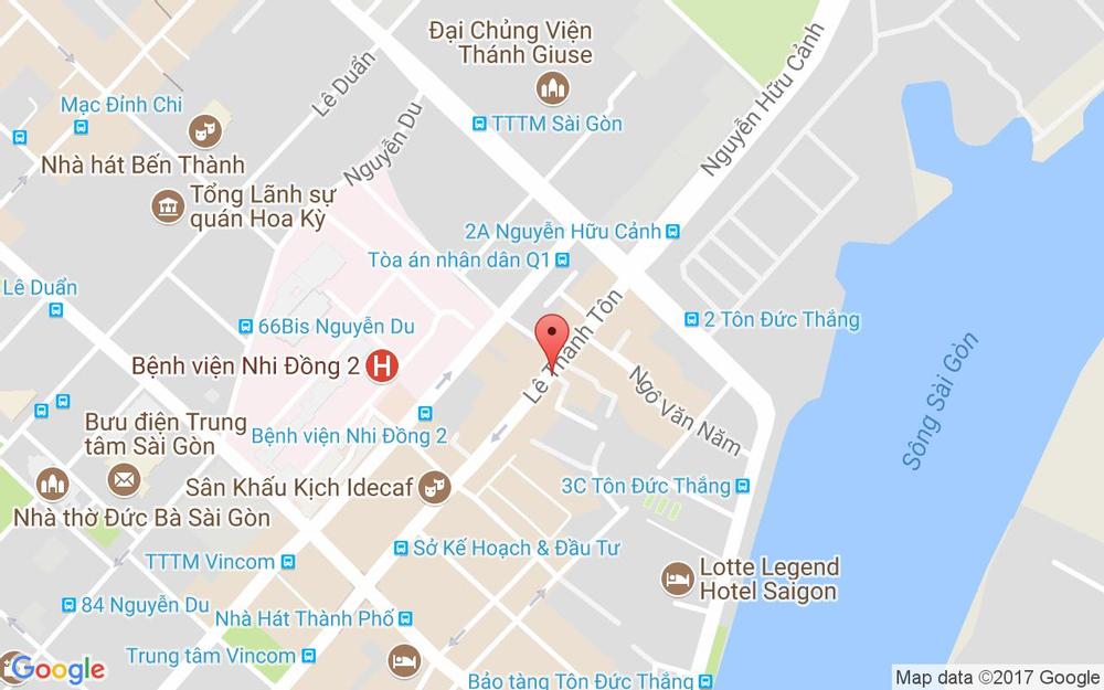 Vị trí bản đồ 15B Lê Thánh Tôn, P. Bến Nghé Quận 1 TP. HCM
