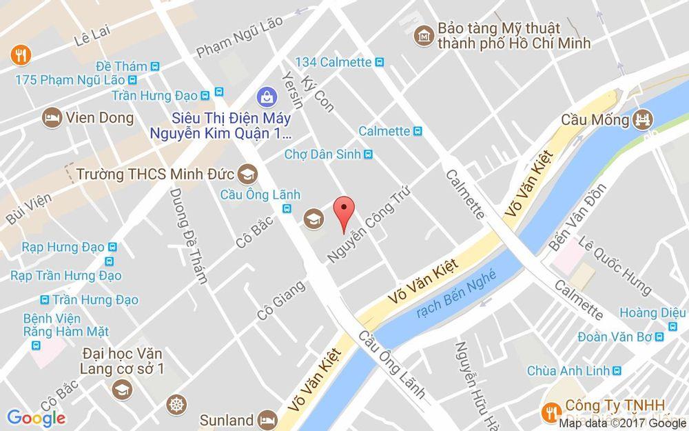 Vị trí bản đồ 380 Nguyễn Công Trứ, P. Cầu Ông Lãnh Quận 1 TP. HCM