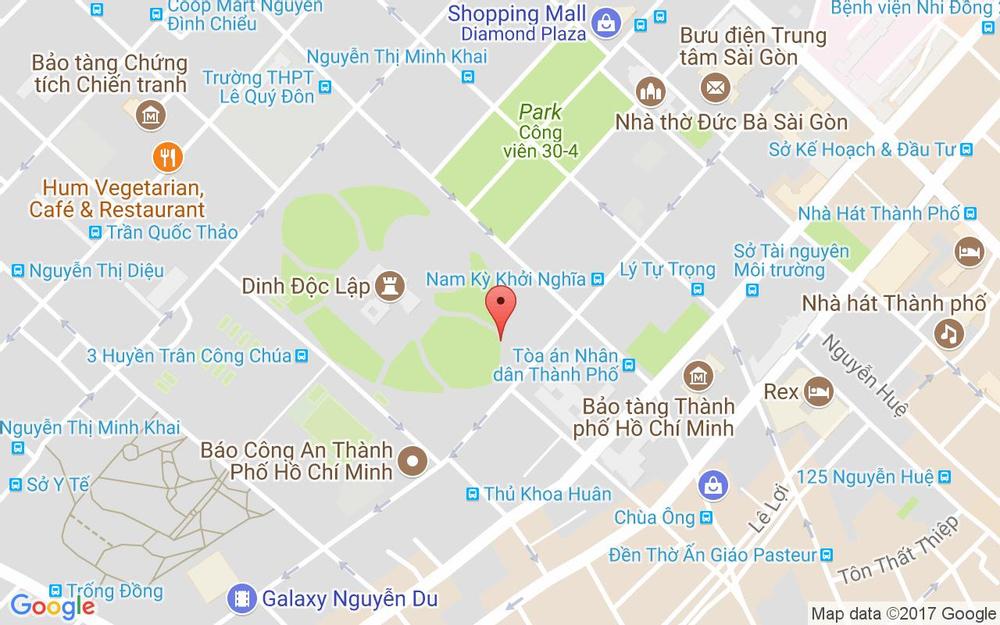 Vị trí bản đồ Lầu 12 - Central Palace Hotel, 39 Nguyễn Trung Trực Quận 1 TP. HCM