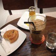 Danish nho, passion fruit, iced latte