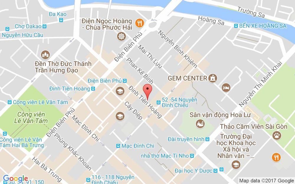 Vị trí bản đồ 34 Đinh Tiên Hoàng, P. Đa Kao Quận 1 TP. HCM