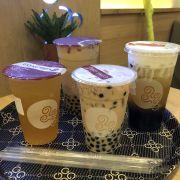 Trà xanh chanh dây, trà xanh Gongcha trân châu đen, 2 trà sữa trân châu đen